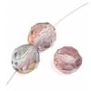 Fire polished 10mm Crystal/rose Luster